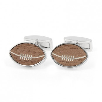 Wooden Rugby Cufflinks - Ellis Park