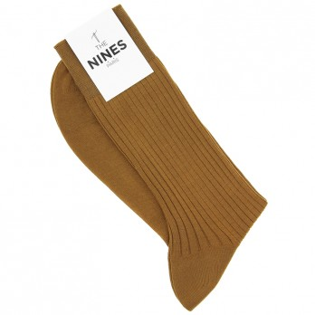 Camel Cotton Lisle Socks