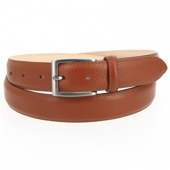 Full-Grain Leather Belt in Cognac - Enzo