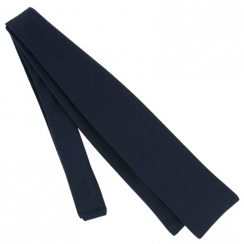 Navy Blue Slim Self-Tie Bow Tie in Satin Silk - Monte Carlo