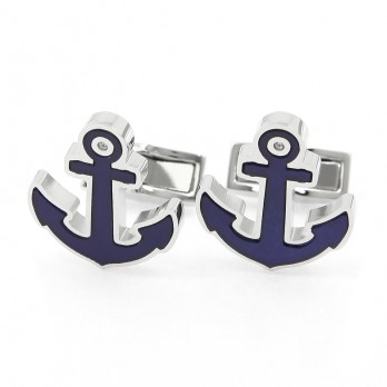 Blue Anchor Cufflinks