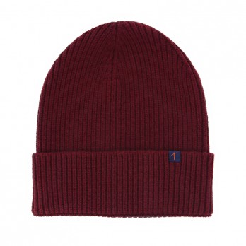 Burgundy Beanie with Merino Wool and Cashmere