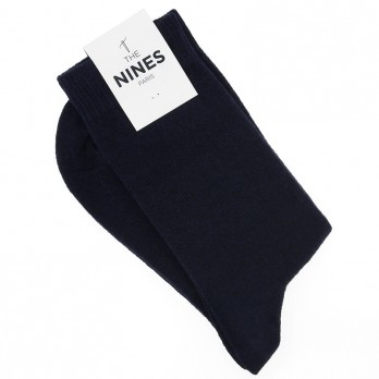 Navy Blue Cashmere Socks
