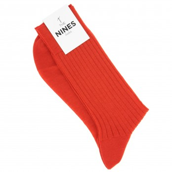 Poppy-Red Merino Wool Socks