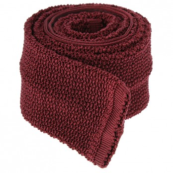 Cravate Tricot Bordeaux - Crunchy