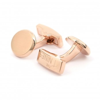 Round cufflinks in brushed rosegold - Montevideo