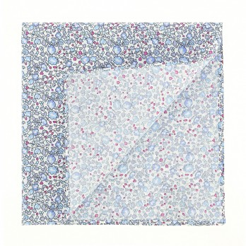 Blue Liberty pocket square with flowers - Wildflower