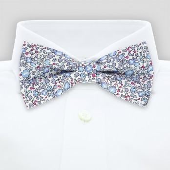 Blue Liberty bow tie with flowers - Wildflower