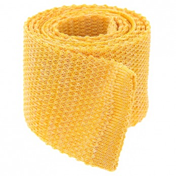 Knit tie linen yellow