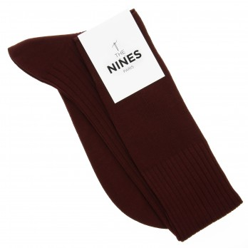 Burgundy premier cru cotton lisle knee socks