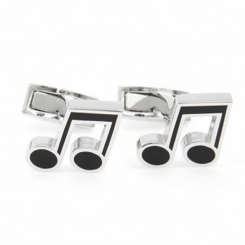 Music note cufflinks - Music Hall