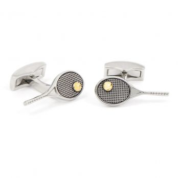 Tennis racket cufflinks - Grand Chelem