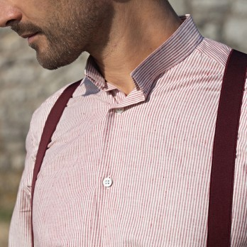 The retro chic shirt - reverse collar