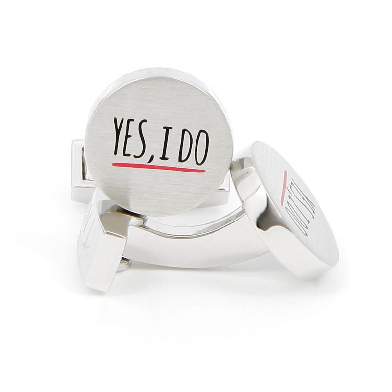 """Yes, I Do"" cufflinks"