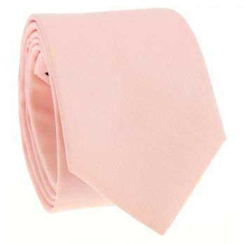 Peach pink cotton tie - Sorrente