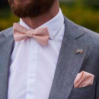Peach pink bow tie - Sorrento