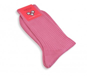 Pink scottish lisle thread socks Di Carlo