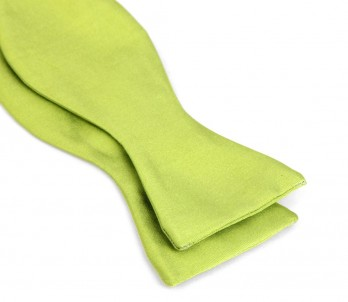 Lime Green Satin Bow Tie - Monaco II