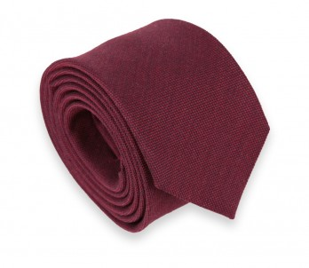 Carmine Red Wool and Silk Tie - Brisbane II
