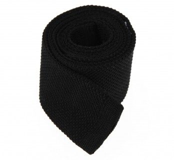 Black Knitted Cotton Tie - Novare